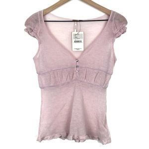 NWT Free People Sheer Ballet Low Front Peplum Top